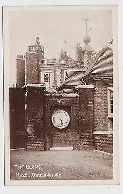 Super Old Card Of The Royal Observatory Clock Greenwich About 1910