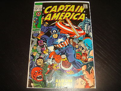 CAPTAIN AMERICA #112   Silver Age Marvel Comcs 1969 GD+