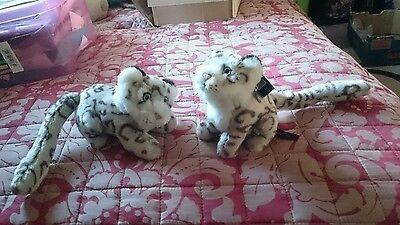 Pair of Snow leopard soft toys. new
