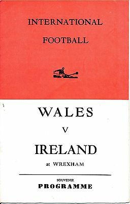 PIRATE PROGRAMME Wales v Northern Ireland (Home International @ Wrexham) 1968