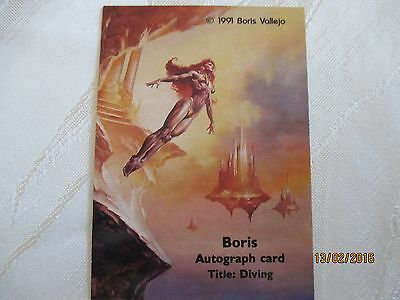 Complete Cards Boris Vallejo 1 With Very Rare Autograph Card