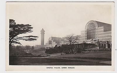 Super  Old Real Photo Card Of Crystal Palace Lower Terrace  Around 1925