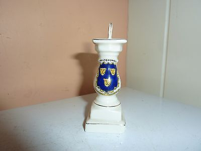 Swan China 8.5 Cm High Model Of Outside Sun Dial On Plinth With Whitchurch Crest