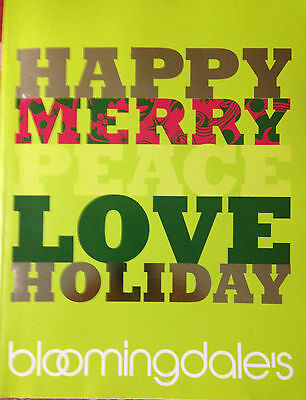 Bloomingdales's–Christmas 2009 Catalog-Happy, Merry, Peace, Love Holiday