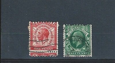 1929/34 Kgv Excellent Pair Of Coil Stamps Showing Jagged Perforation Vfu