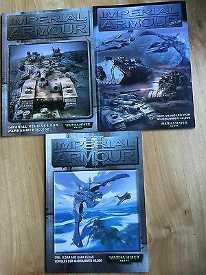 X 3 Warhammer 40K Imperial Armour & Imperial Armour Update Books