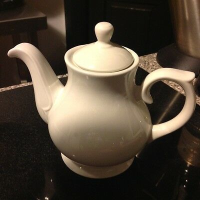 Small white tea/coffee pot for one