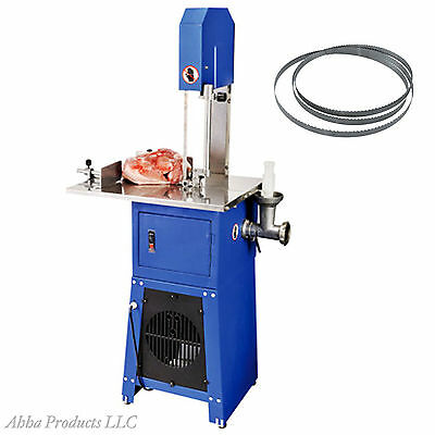 Heavy Duty Commercial Butchers Stand Up Meat Grinder Band Saw Food Processor 550