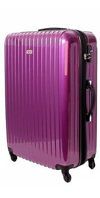 "Brand New 29"" Karry Hard Shell, 4 Wheel Suitcase In Pearl Purple"