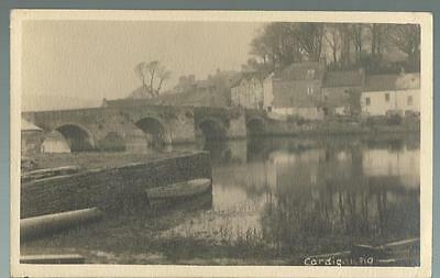 Old Postcard   Old Bridge     Cardigan   Wales   1940       Not Posted