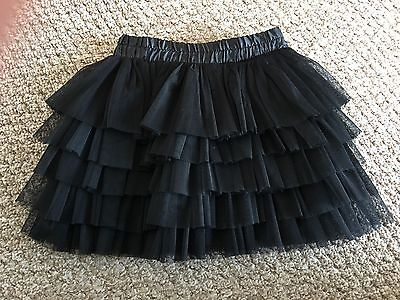 Zara Girls Black Tutu Net Skirt Age 6 Years BNWOT