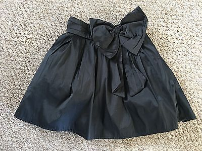 Next Girls Black Taffeta Oversize Bow Party Skirt Age 4 Years