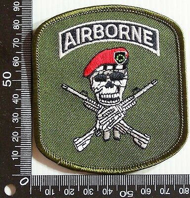 Vintage Airborne Armed Force Embroidered Souvenir Patch Woven Cloth Sew-On Badge