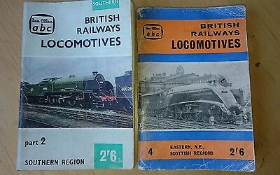Ian Allan abc br locomotives 60/61 and summer 59 p/bs. marked