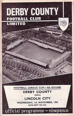 DERBY v LINCOLN 1967/68 LEAGUE CUP