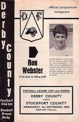 DERBY v STOCKPORT 1968/69 LEAGUE CUP (inc.FLR)