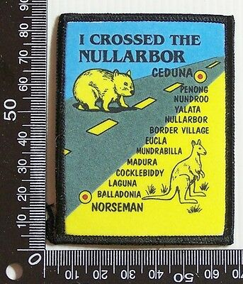 Vintage I Crossed The Nullarbor Embroidered Souvenir Patch Woven Sew-On Badge