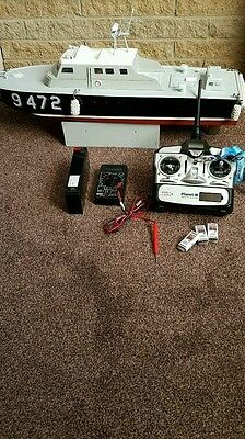 Large RC Radio Controlled boat and radio gear.