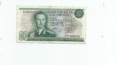 Luxembourg  10  Francs  1967