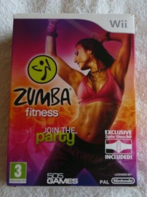 NINTENDO Wii PAL ZUMBA FITNESS BOXED WITH BELT EXCELLENT CONDITION