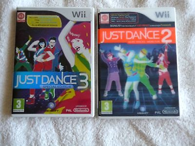 NINTENDO Wii  JUST DANCE 2 AND 3 GAMES IN EXCELLENT CONDITION