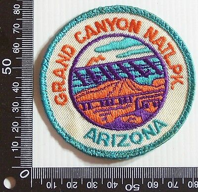 Vintage Grand Canyon Arizona Embroidered Souvenir Patch Woven Cloth Sew-On Badge