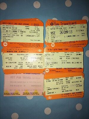 237 Used Train Tickets Train Receipts Seat Reservations