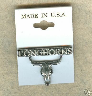 College Sports Mascot Animal 2  His & Hers Texas Longhorn Skull Pewter Pin New.