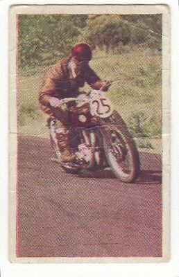 AVA Confections RareMotor Cycle Racing Collector Card 1930s