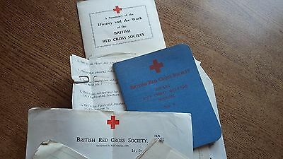 British Red Cross Society First Aid Manual Books Handwritten Notes Paper