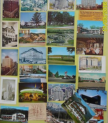 28 Hotels, Motels,Inns,+ 1952 Ticket to Hotel Show,USA & Non USA,Various States