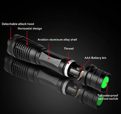 Torcia Zoomable impermeabile CREE T6 LED torcia luce bici ricaricabile 18650 it