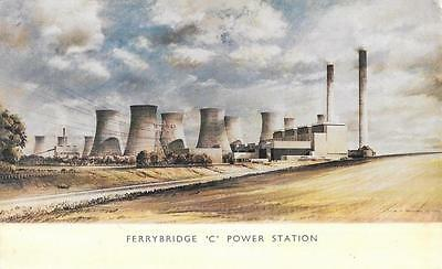 Early 1960s Artist Impression of Ferrybridge C Power Station Yorkshire Postcard