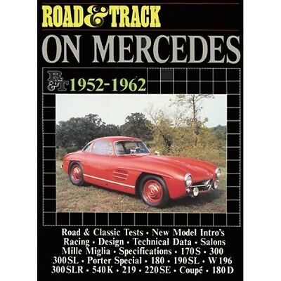 Road & Track On Mercedes 1952-1962 book paper
