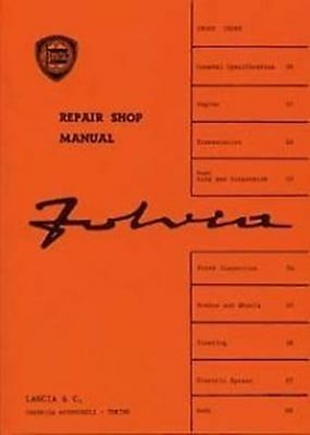 LANCIA Flavia Car Shop Supplement included manual Catalogue Book Paper