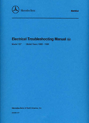 MERCEDES-BENZ 107 Electrical Troubleshooting Car Shop manual Book Paper