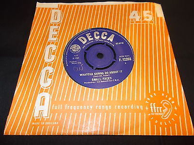 Small Faces - Whatcha Gonna Do About It! 1965 Decca F 12208 Rare Uk 45 Ex+!