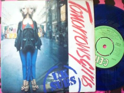 Punk - Uk Subs - Tomorrows Girls - Blue Vinyl - Picture Cover