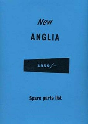 FORD Anglia 107E 1959 parts manual book paper car