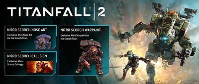 Titanfall 2 - Pack Nitro Scorch  DLC FOR PS4 PLAYSTATION 4 , (NOT FULL GAME)