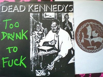 Punk - Dead Kennedys - Too Drunk - Rare Canadian Import - Fold Overpicture Cover