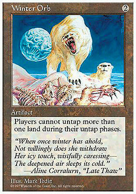 MTG 1x Winter Orb - Globo dell'Inverno MINT Eng Magic 5th
