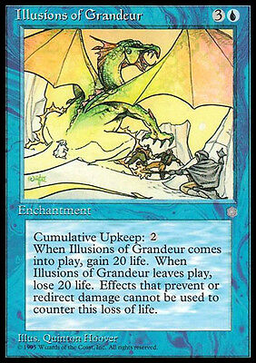 MTG 1x Illusione di Grandezza - Illusions of Grandeur EXC ENG Magic Era Glaciale