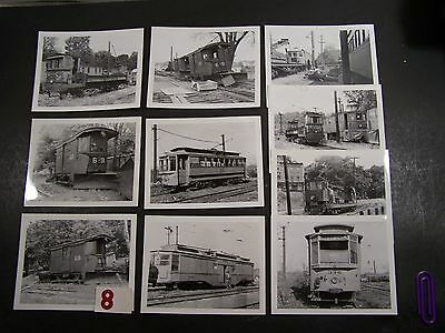 """10 Black & White Photo's """"cts"""" & """"cmt"""" Train/trolley Cars-Reprints"""