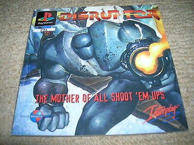 DISRUPTOR – PS1 PAL Instruction Manual Only