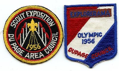 1956 DUPAGE COUNCIL IL Illinois Patches bsa BOY SCOUT OLYMPIC EXPLORERAMA EXPO