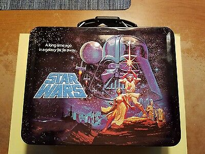 Star Wars Embossed Lunch box Tin NM Condition