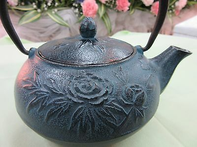 It's Mint  A teapot Peony.Nanbu Iron kettle with flower patterns from Japan