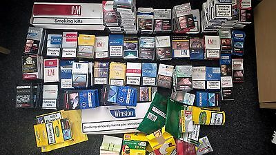 62 Different cigarette packets  15 Various Tobacco Items, Collectable.