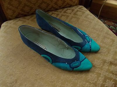 Vintage Ladies Shoes Made By Marcello Blues 38.5